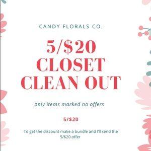 Closet clean out 5/$20